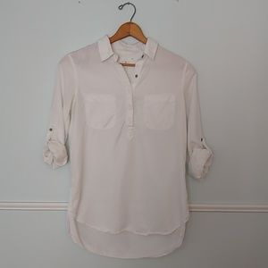 Lou & Grey white blouse EUC XS